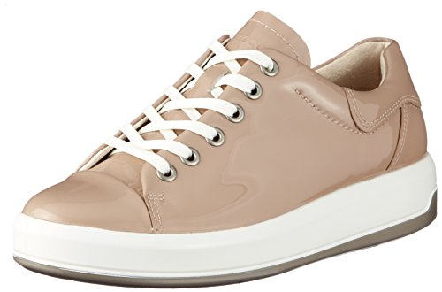 ECCO Women's Women's Soft 9 Tie Fashion Sneaker, Ginger Patent, 39 EU / 8-8.5 US