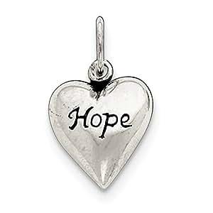 Broche de plata de ley de pared con marco envejecido Hope lámpara de techo - JewelryWeb