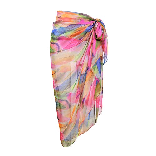 CHIC-DIARY-Womens-Chiffon-Print-Floral-Scarf-Beach-Sarong-Pareo-Bikini-Wrap-Cover-Up