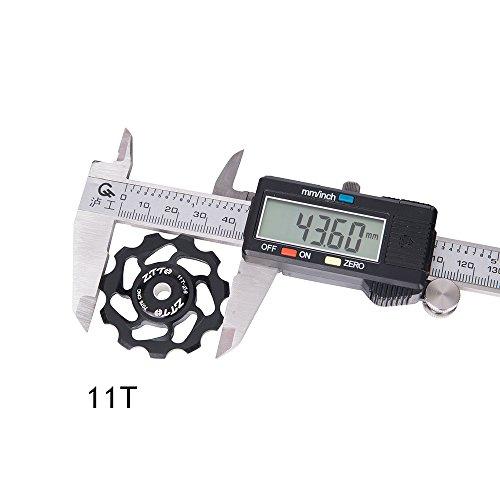 11T Bicycle Rear Derailleur Jockey Wheel Bearing Pulley Guide Roller Idler for Road Bike MTB