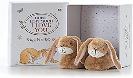 Rainbow Designs Guess How Much I Love You Baby/'s First Booties Set