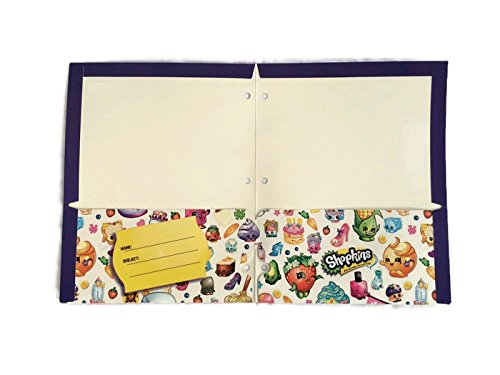 Shopkins Bundle of 4 School Portfolio Folders (2-Pocket) by Shopkins (Image #2)