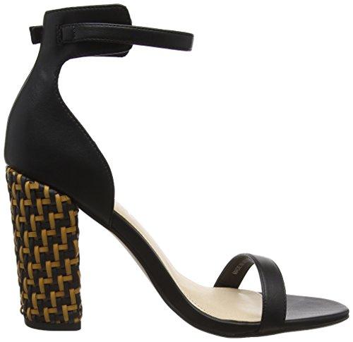 Office Women's Hip Open Toe Sandals Black (Black Weave) TbmDbo