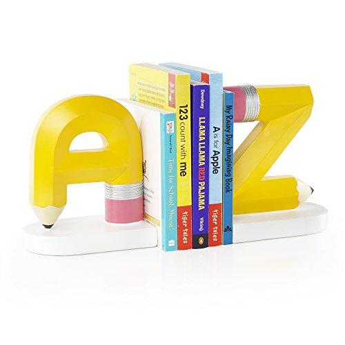 Durable Service Alphabet A To Z Hand Painted Bookends   Teachers Book Shelf  Organizer For School