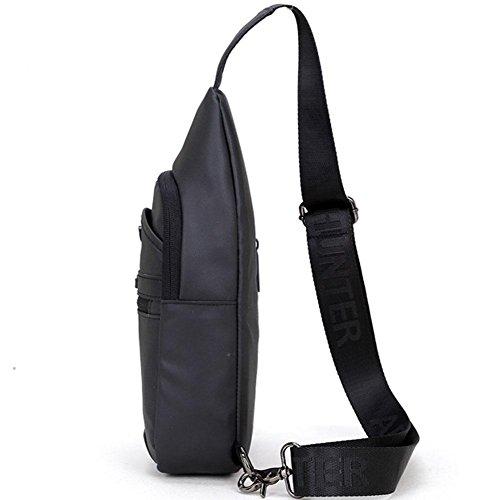 Auriculares Prueba Los Cofre Señora Oxford Capacidad De Black Bag Agujero A Masculina Messenger Yxngbo Bolsa Agua Gran Tela Throttle Viaje nYv156zq