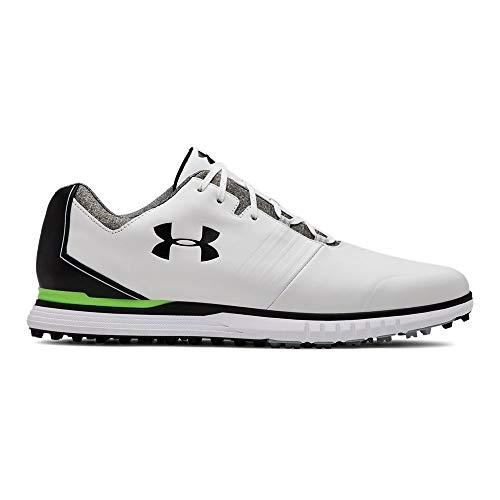 Under Armour Men's Showdown Golf Shoe, White (100)/Black, 11 M US