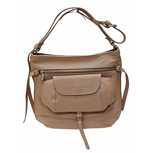 """Sac besace """"Soft Vintage"""" LANCASTER cappuccino"""