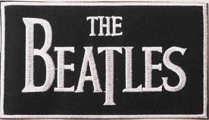 The Beatles Badge bestickt Patch 11,5cm x 6,5cm oder Aufnäher Aufbügler Bügelbild 5cm x 6 Jean Junction