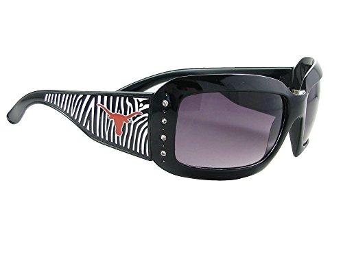 Texas Longhorns UT Black Zebra Print Crystals Womens Sunglasses - Sunglass Ut