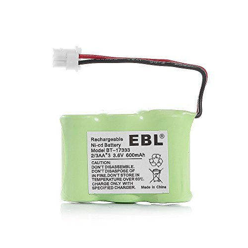 Nicd Radio Battery - EBL Rechargeable NiCD Cordless Telephone Battery Replacement Pack for 2/3AA 600mAh 3.6V VTech BT-17333 BT-27333