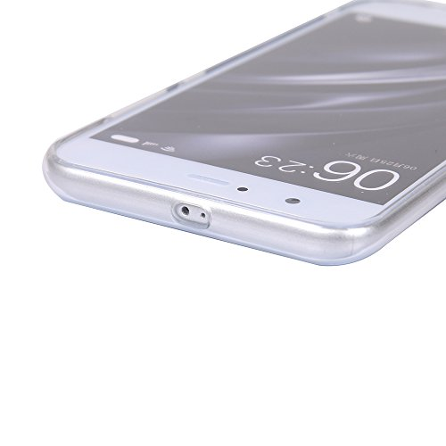 Funda Xiaomi 6,EUDTH Suave TPU Gel Funda Case Delgado Silicona Fundas Carcasa Espalda para Xiaomi Mi6 (5.15 Pulgadas) Levantamiento de pesas Datura blanca