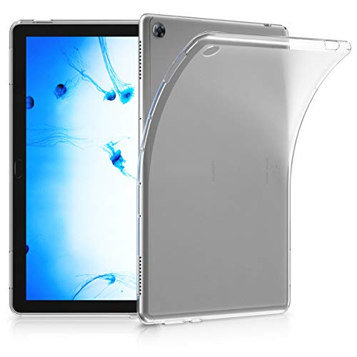 kwmobile Crystal TPU Cover Compatible with Huawei MediaPad M5 Lite 10 - Mobile Cell Phone Case - Transparent