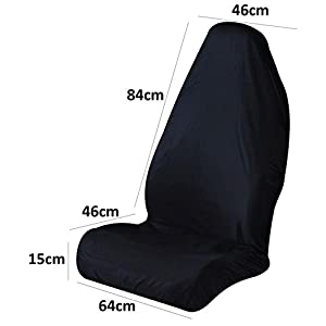 WATERPROOF BLACK FRONT CAR SEAT COVER PROTECTOR MPV KIDS MUDDY SHOES FOOTBALL