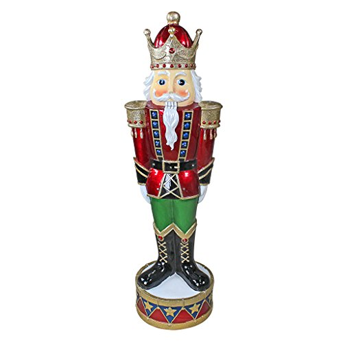 - The Nutcracker Figures - Illuminated Bavarian-Style LED Christmas Nutcracker Soldier Statue - LED Holiday Decor Statue