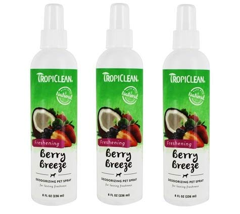 Tropiclean All Natural Freshening Deodorizing Pet Spray Berry Breeze - 8 fl. oz - 3pack