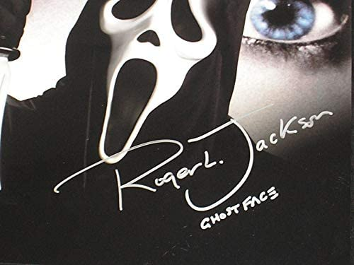 ROGER JACKSON Signed SCREAM 8x10 Photo Voice of GHOSTFACE