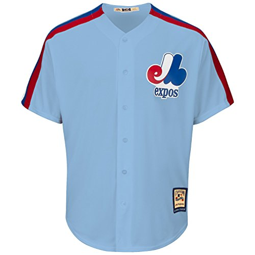 (Montreal Expos Cool Base Cooperstown Replica Road Fan Baseball Jersey - Size X-Large)