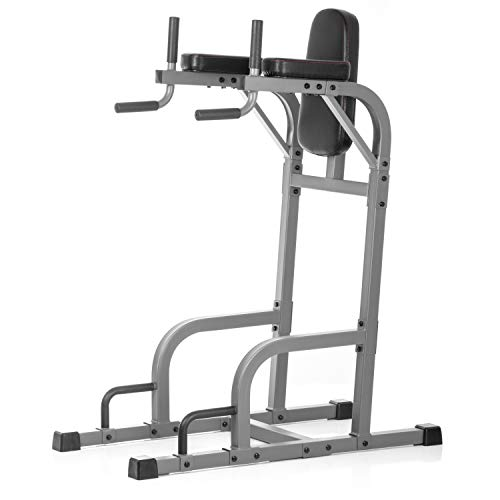 XMark Fitness Vertical Knee Raise with Dip Station and Push Up Station, Multi Functional VKR, Core Workout