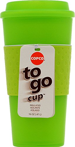 Copco Acadia Travel Mug, 16-Ounce, Translucent Lime Lime Green Mug