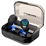 True Wireless Earbuds Bluetooth 5.0 Headphones, IPX7 Waterproof In-Ear TWS 90H Playtime 3D