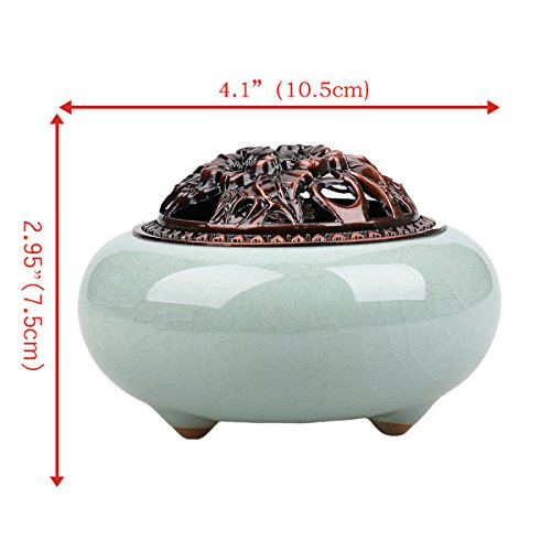 Ceramics incense burners / cones Incense burner Holder home decor (pale blue incense burners)