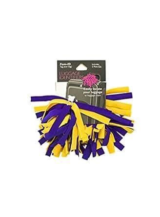 Amazon Com Pomchies Pom Purple Gold Luggage Tags
