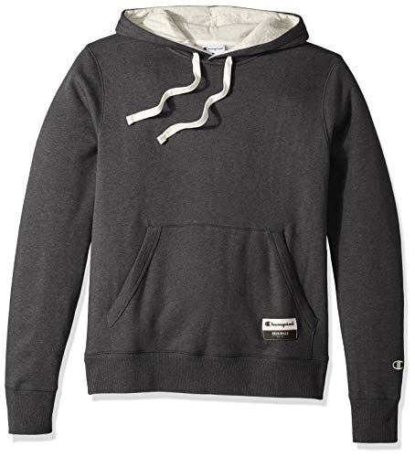 Champion Men's Big and Tall Authentic Original Sueded Fleece Pullover Hoodie, Charcoal Heather 2X Large