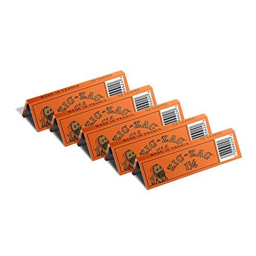Papel para cigarrillos Zig-zag 1 ¼ French Orange 32 uni x 5
