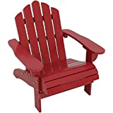 Sunnydaze Toddler Classic Wooden Adirondack Chair with Non-Toxic Paint Finish, Fits Most Children Under 3 Feet Tall, Red