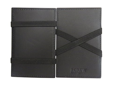 (J Crew Magic Wallet for Men Black Leather)