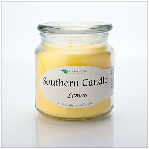 Lemon 16 oz Decorator Jar Natural Soy Wax Candle