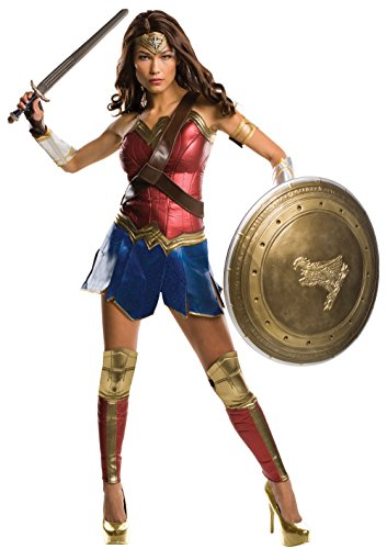 Superman Cosplay Costumes (Rubie's Women's Batman v Superman: Dawn of Justice Grand Heritage Wonder Woman Costume, Multi, Medium)