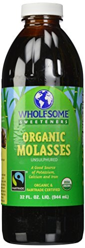 - Organic Molasses, Unsulphured, 32 fl oz (944 ml) by Wholesome Sweeteners