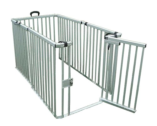 Cool Runners Secure Aluminum Portable Expandable Pet Enclosure 6 Sections (36''H x 30''L per Section) Lightweight & Collapsible by Cool Runners