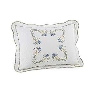Modern Heirloom Collection Heather Cotton Filled Bedspread, Standard Sham 20 X 26-Inch