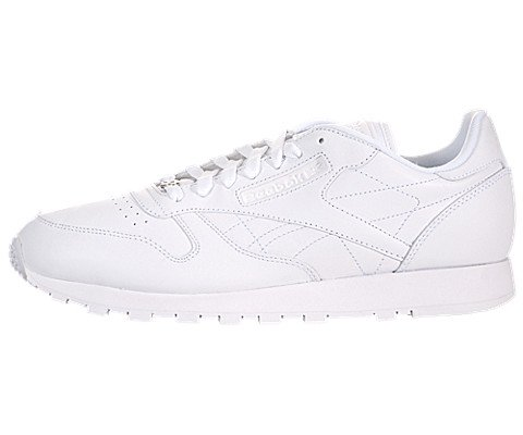 Reebok Men's Cl Lthr Fashion Sneaker, US-WHITE/White/White, 8 M US (Mens Reebok Spring)
