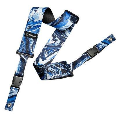 DiMarzio DD2240 Steve Vai 2 Inch Nylon ClipLock Strap Blue Universe w/Bonus Deluxe RIS Picks (x3) 663334046368
