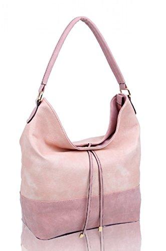 Fashion LeahWard® Women's TASSEL CW150906 Shoulder Handbags For Ladies Faux CLOUD Leather ROSE Bag Style Tote Bags 5pqqar4