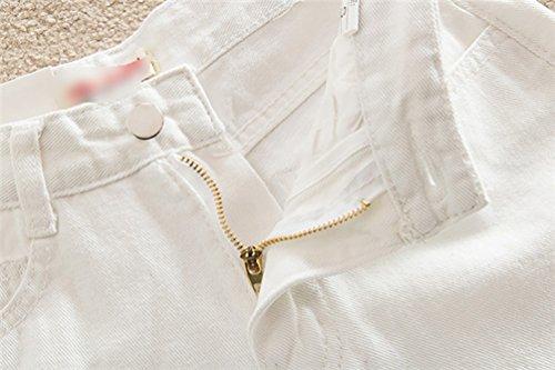 Signore Moda Mini Shorts Denim Dexinx alla Pantaloni Fuori Spiaggia Pantaloni Tagliato Skinny Bianca Jeans Caldi della dzqHqwx