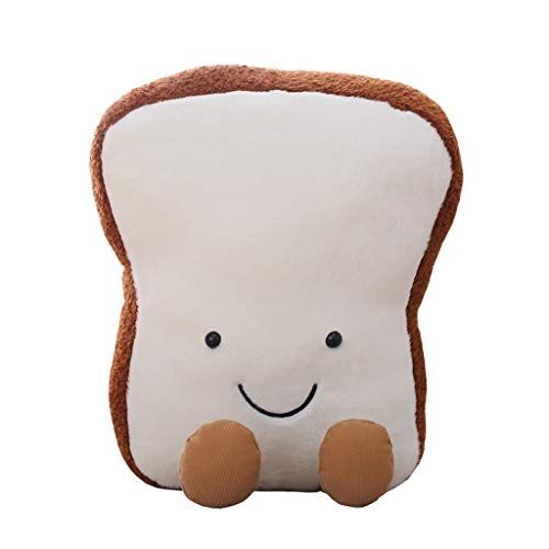 LiboboBaby Toast Bread Shape Pillow Soft Lumbar Back Cushion Plush Stuffed Toy (20CM)