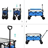 Moon Lence Collapsible Outdoor Utility Wagon Heavy