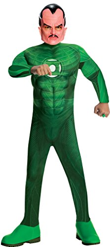 Sinestro Child Mask (Green  Lantern Child's Deluxe Sinestro Costume with Muscle Chest - One Color - Small)