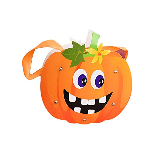 Halloween Goodie Bags Animated Witch Pumpkin Grim Reaper Shape Trick or Treat Goody Bag Durable Reusable Halloween Cookies Pouch Spooky Halloween Decorations for Boys Girls (D)
