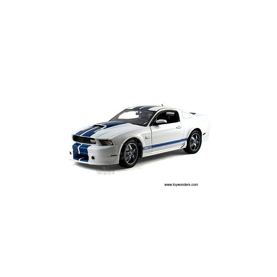 Sc351w Shelby   Ford Shelby Gt350 Hard Top (2011, 118, White w/ Blue Stripes) Sc351 Diecast Car Model Auto Vehicle Automobile Metal Iron Toy