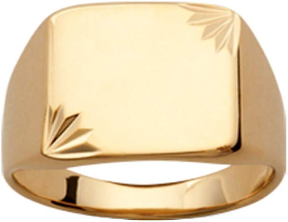 Wonderful Gold Chevali/ère 18 carats ISADY Plaqu/é Or 750//000 Bague Mixte Homme Femme