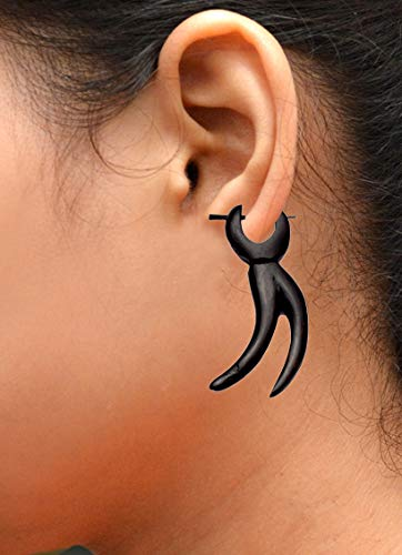 Krishna Mart India Fake Gauges Hand Carved Fair Trade Jewelry Small Horn Fishhooks Sew_859