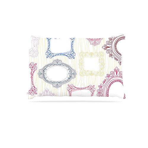 Kess InHouse Heidi Jennings I've Been Framed  Fleece Dog Bed, 50 by 60 , White