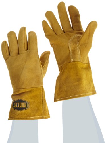 IRONCAT 6030 Premium Top Grain Reverse Deerskin Leather MIG Welding Gloves: Insulated Back, Large, 1 - The Stores Westchester