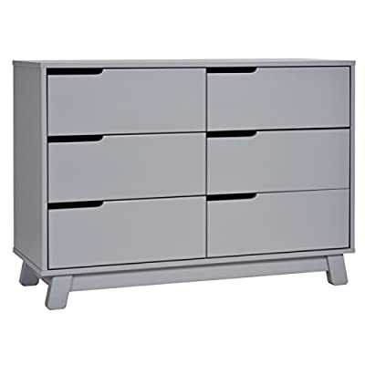 Babyletto Hudson 6-Drawer Assembled Double Dresser in Grey - Delivers fully assembled, no assembly required Made with sustainable New Zealand pine wood and TSCA Compliant MDF Six spacious drawers with metal drawer glides and stop mechanisms to prevent drawers from pulling out; Anti-tip kit included - dressers-bedroom-furniture, bedroom-furniture, bedroom - 41uOMG8HQgL. SS400  -