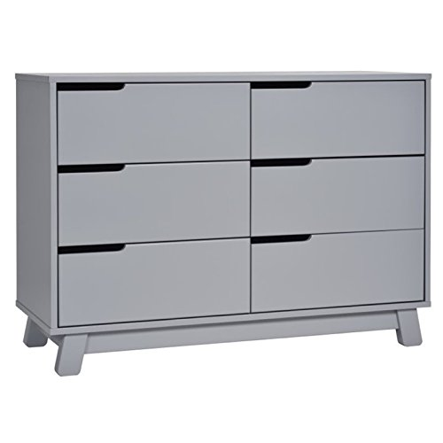 41uOMG8HQgL - Babyletto Hudson 6-Drawer Assembled Double Dresser, Grey